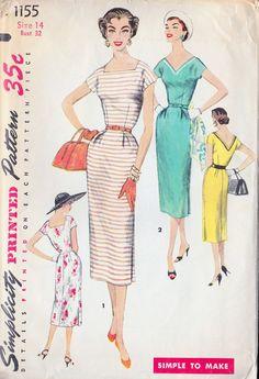1950s Misses Sheath Dress