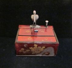 1920's Cigarette Box Dispenser Chinese Bird by PowerOfOneDesigns, etsy