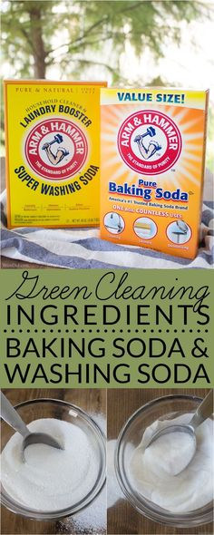Baking Soda & Washing Soda sound similar but they are definitely not the same item. Learn about the two natural cleaners AND find out their best cleaning uses. via @brendidblog
