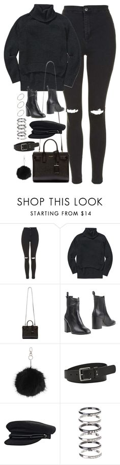 """""""Untitled #771"""" by theradmoons ❤ liked on Polyvore featuring Topshop, Wilfred Free, Yves Saint Laurent, Eqüitare, FOSSIL, M.N.G and ASOS"""