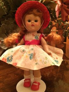 Vintage Vogue PLW Ginny Doll My First Corsage, 1954, Original Ribbon Slip #DollswithClothingAccessories