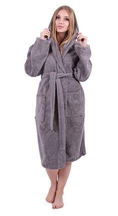 Turkuoise Women s Turkish Cotton Hooded Robe bd957b804
