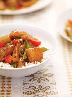 Slow Cooker Pineapple Chicken Recipes | Ricardo Double sauce, use chicken tenderloins