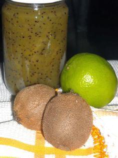 Compota de kiwi, pêra e lima