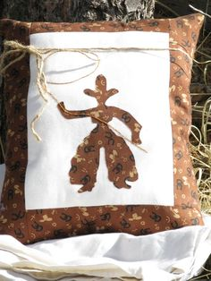 Western  Pillow cowboy appliqued on it by BeyondNeedleNThread, $15.00