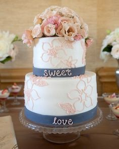 Blooming Top Tier | Martha Stewart Weddings