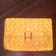 Jessica Simpson clutch. Yellow. Excellent condition. Eye catcher!!! Bags Clutches & Wristlets