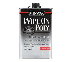 Minwax™ Wipe-On Poly to use over chalk or milk paint instead of wax. It is more hard wearing and better when using on a often used item like a bed or table.