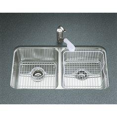KOHLER Undertone 18-Gauge Double-Basin Undermount Stainless Steel Kitchen Sink