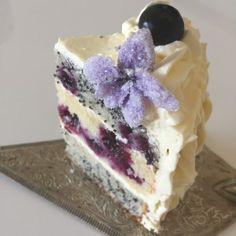 Blaubeer Mohnkuchen Zitronenkuchen saftiger Kuchen Sommertorte
