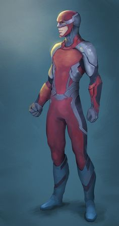 Superhero character design, ended up not being used Commission: Red Red Superhero, Superhero Suits, Superhero Characters, Superhero Design, Comic Character, Character Concept, Comic Books Art, Comic Art, League Of Heroes