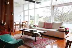 Sydney home of @Tim Harbour Ross as shown in @Design Files.  What a great house and love all the mid century furniture