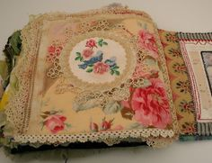 Art journal inspiration. Rambling Rose. Typepad blog. Quilted stitched fabric journal (3)