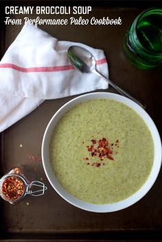Today, in honor of my cookbook Performance Paleo's one-year anniversary, I'm sharing the recipe for Comforting Creamy Broccoli Soup with you! The Performan