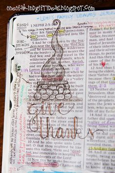 Non Wide Margin Bible or Book of Mormon Journaling Part 1- Colored Pencils #illustratedfaith