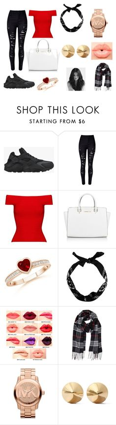 """Project 18"" by courts-rara on Polyvore featuring NIKE, Posh Girl, Michael Kors, NYX, Humble Chic, Eddie Borgo, women's clothing, women, female and woman"