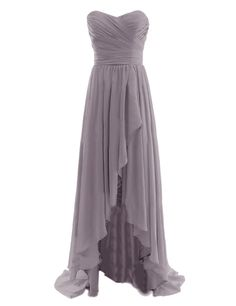 Diyouth Long High Low Bridesmaid Dresses Sweetheart Formal Evening Gowns Champagne Size 24W
