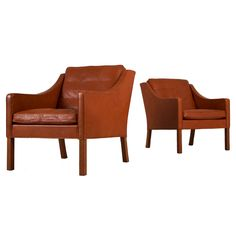 Set of Two Lounge Chairs by Borge Mogensen for Fredericia at 1stdibs