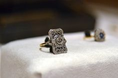 "Titanic Artifacts    Filigree Ring with Diamonds comprised of 18K yellow gold and platinum. It is set with multiple small diamonds and is engraved ""L to A 6.9.10""."
