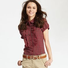 ruffled plaid blouse - Google Search