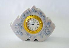 Lladro, Marbella Clock Retired, Blue amd White Clock 1989, Perfect!!