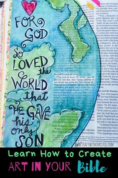 Learn how to Bible Journal with 3 art techniques. carbon copy napkin technique watercoloring (While keeping all text legible) Bible Journaling For Beginners, Bible Study Journal, Scripture Study, Bible Art, Art Journaling, Scripture Journal, Bible Drawing, Bible Doodling, Drawing Quotes
