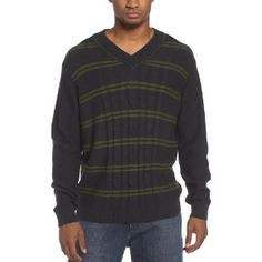 Perry Ellis Men's Cable Stripe Sweater (Apparel)