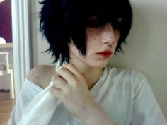 """baesill: """"My cosplay of Elfgutz' doll, Kaney! I was inspired by ghost—-prince's version. """" Baw what! So damn cute :3 Nicely done (: Cute Emo Guys, Cute Gay, Scene Guys, Emo Scene, Meninas Emo, Elf Art, Pastel Punk, Aesthetic People, Doll Makeup"""