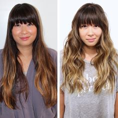 6 Month Color: Bronde :The end of a strand will look ashy blonde, the one next to it, ashy brunette, and the root, a solid brown.