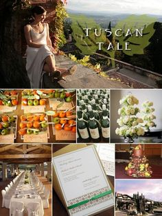 Tuscan Themed Wedding ideas