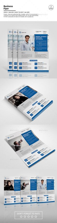 A4 Corporate Business Flyer Template PSD #design Download: http://graphicriver.net/item/a4-corporate-business-flyer-template-vol-04/13122620?ref=ksioks