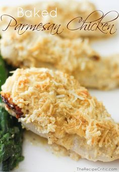 Baked Parmesan Chicken at https://therecipecritic.com  The flavor of this chicken is absolutely incredible!!  Easy put together and a meal the whole family will LOVE!