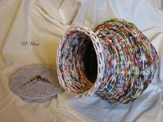 papierowa wiklina - paper basket