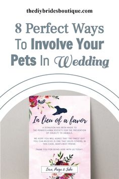 Wanna your pet as your wedding guest? Like you can make a brief about them to your guests. Here are 8 more best ideas for you to involve your pet in your wedding. Perfect Wedding, Fall Wedding, Diy Wedding, Wedding Color Schemes, Wedding Colors, Budget Bride, Mans Best Friend, Helping Others, Wedding Signs
