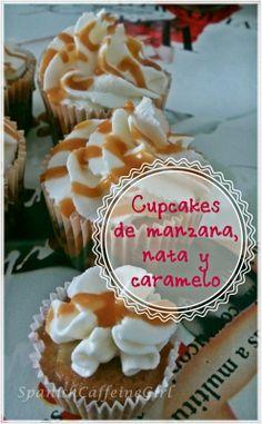 Receta fácil de cupcakes de manzana con nata y caramelo