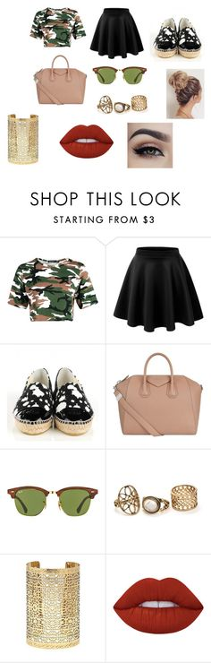 """""""#49"""" by jasmine-c05 ❤ liked on Polyvore featuring Chanel, Givenchy, Ray-Ban, Forever 21 and Lime Crime"""