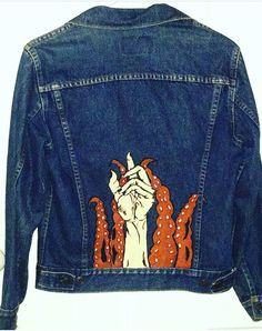 Hand and Tentacles Jean Jacket