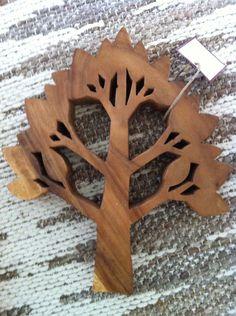 Wooden Family Tree Wall Art. $45.00, via Etsy.