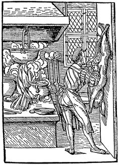 Gutting a hare; from Hans Burgkmair, early 16th century