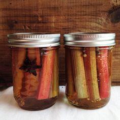 Spiced Pickled Rhubarb