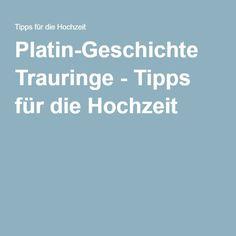 Platin-Geschichte Trauringe - Tipps für die Hochzeit
