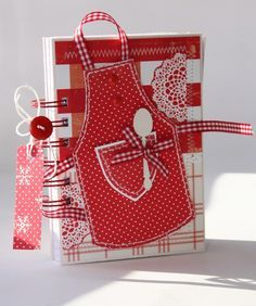 GIft for the chef! Love all the red checks and dots and gingham!