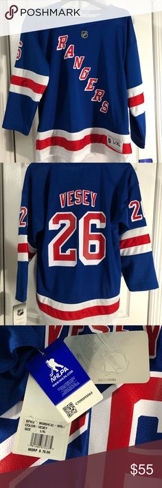 buy online 15e31 b9bbd New York Rangers Jimmy Vesey Youth Jersey New With Tags Youth Size L XL NHL
