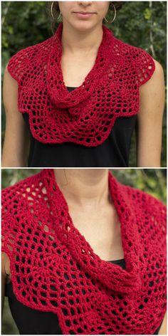 Crimson Cowl Crochet 2019 The post Crimson Cowl Crochet 2019 appeared first on Scarves Diy. Crochet Shawl Free, Crochet Cozy, Crochet Scarves, Crochet Crafts, Crochet Clothes, Crochet Stitches, Crochet Projects, Knitting Patterns, Crochet Patterns
