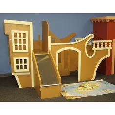 Pirate Ship Playhouse w Slide & Stairs