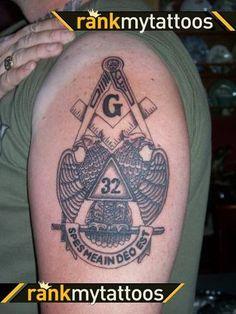 Masonic Art, Masonic Lodge, Masonic Symbols, G Tattoo, Body Art Tattoos, Cool Tattoos, Mens Tattoos, Freemason Tattoo, Masonic Tattoos