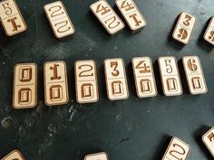 Laser Cut Wood Dominoes