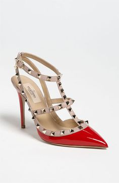 would never spend the money..but oooooh are they fabulous! Valentino 'Rockstud' T-Strap Pump | Nordstrom