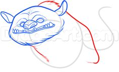 how to draw gruff the neverbeast step 5