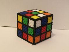 Something every 80s kid had - a Rubik's cube!  from my Etsy shop https://www.etsy.com/listing/452347904/rubiks-cube-perler-bead-box-piggy-bank